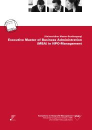 Executive Master of Business Administration (MBA) in NPO ... - VMI