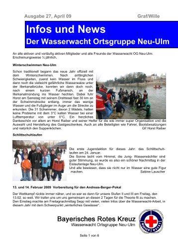 Infos und News 27 - Wasserwacht Ortsgruppe Neu-Ulm