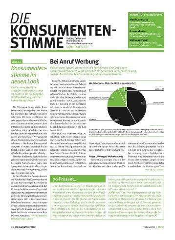 Ausgabe herunterladen - Comparis.ch