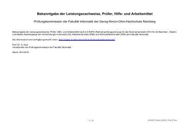 Studien - Ohm-Hochschule Nürnberg