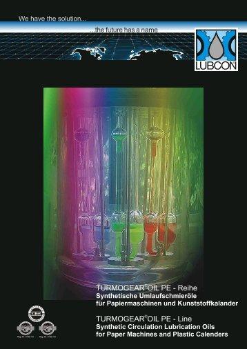 Synthetische Umlaufschmieröle für Papiermaschinen und