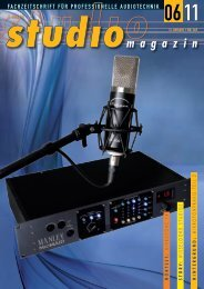 HINTERGRUND : MIKROFONPRAXIS TEIL 2 ... - Studio Magazin