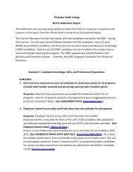 Philander Smith College NCATE Addendum Report This Addendum ...