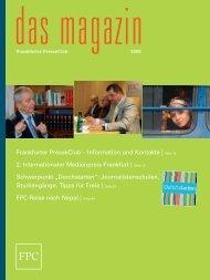 Magazin 2008 - Frankfurter Presseclub