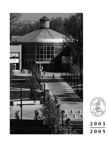 2005 catalog part1 - College of Staten Island - CUNY