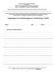 Fragebogen zum Vorstellungsgrund - Dr. Gudrun Hoffmann