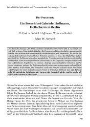 Ein Besuch bei Gabriele Hoffmann, Hellseherin in Berlin