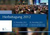 Herbsttagung 2012 - Deutsche Aktuarvereinigung e.V.