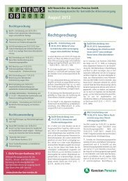KP NEWS 08.2012 – bAV Newsletter der - Die Kenston ...