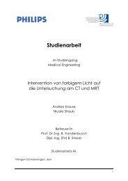 Studienarbeit - Brüderkrankenhaus Trier