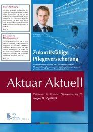 Aktuar Aktuell - Deutsche Aktuarvereinigung e.V.