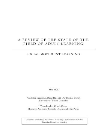 Social Movement Learning - National Adult Literacy Database