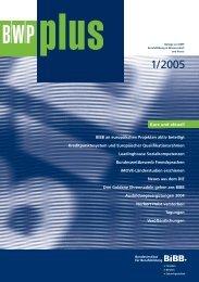 BWPplus 1/2005 - BiBB