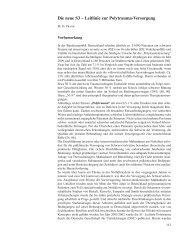 Die neue S3 – Leitlinie zur Polytrauma-Versorgung