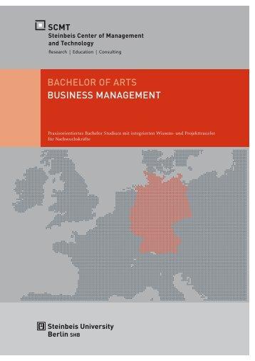 Broschüre Bachelor of Arts - SCMT