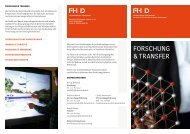 Faltblatt F&T - Fachhochschule Düsseldorf