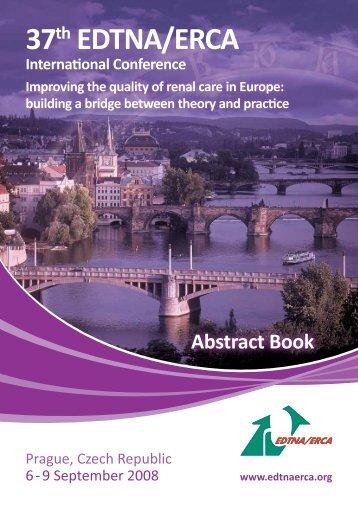 2008 Prague Conference Abstract Book - edtna/erca