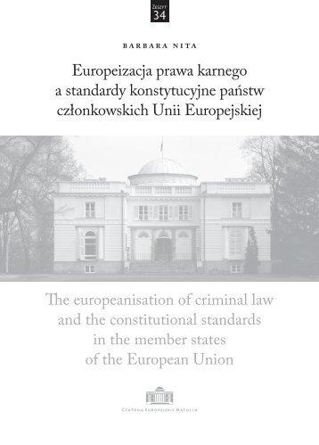 Europeizacja prawa karnego a standardy konstytucyjne państw ...