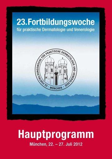 Dienstag - 23. Fortbildungswoche für praktische Dermatologie ...