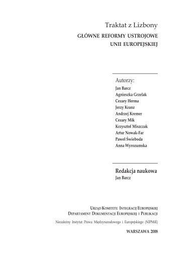 Traktat z Lizbony. Główne reformy ustrojowe Unii - Polska w UE