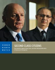 SECOND CLASS CITIZENS - Human Rights Watch