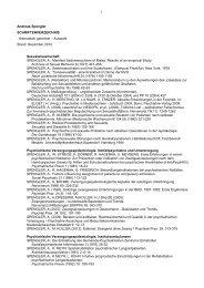 Publikationen (Auswahl) - Prof. Dr. med. Andreas Spengler