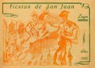 Programa feria San Juan 1951 - Luque