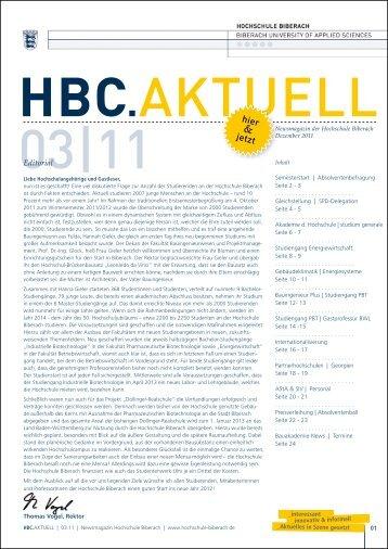 hbc.aktuell 3/11 - Hochschule Biberach