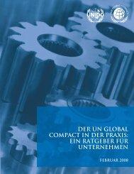 der un global compact in der praxis: ein ratgeber für unternehmen