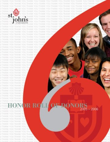 HONOR ROLL OF DONORS - St. John's University