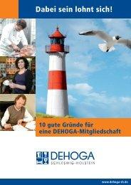 Broschüre! - DEHOGA Schleswig-Holstein