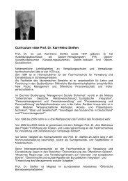 Curriculum vitae Prof. Dr. Karl-Heinz Steffen - FHVD ...