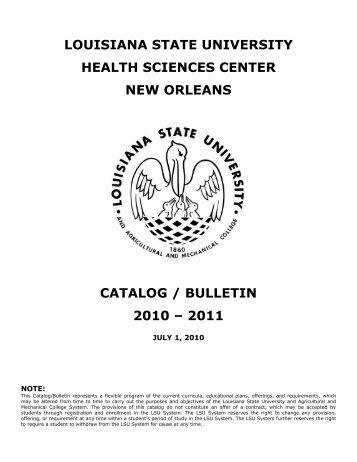 2010-2011 - LSU Health Sciences Center New Orleans