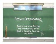 Praxis Preparation