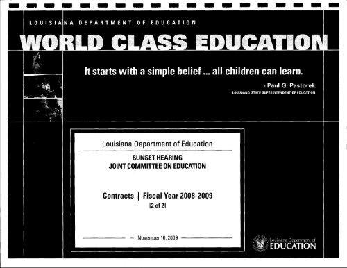 Louisiana Department of Education - Louisiana Department of the ...