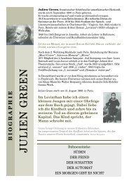Julien Green - THOMAS SESSLER - Verlag