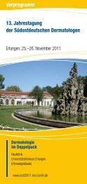 Programm der Jahrestagung - Universitätsklinikum Erlangen