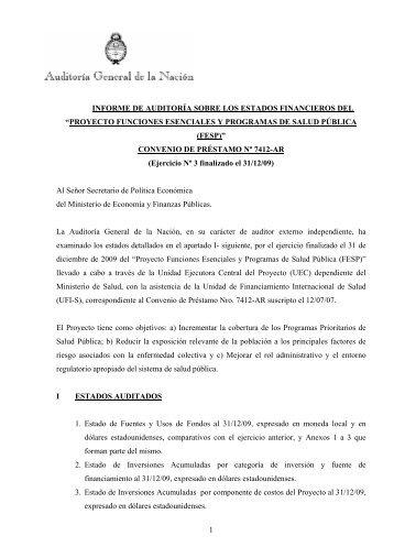 proyecto funciones esenciales y programas de salud pública (fesp)