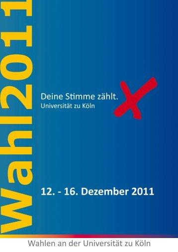 Wahlzeitung - AStA - Universität zu Köln