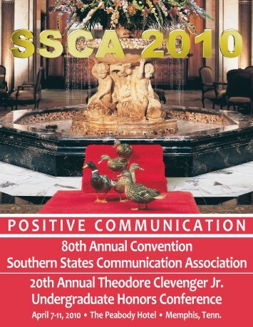 positive communication - Southern States Communication Association