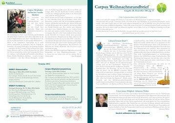 Rundbrief Nr. 20 (Dezember 2011) [PDF 1,65MB - Carpus eV