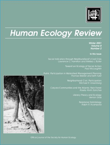 The Society for Human Ecology - Human Ecology Review