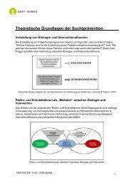 Theoretische Grundlagen der Suchtprävention - Sucht Schweiz