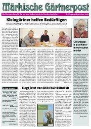 Artikel (PDF) lesen - Kreisverband Luckenwalde der Gartenfreunde eV