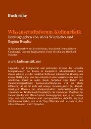 Prospekt - Kulinaristik-Forum Rhein-Neckar