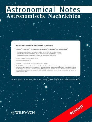 Astronomical Notes - University of Leeds
