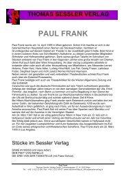 PAUL FRANK - THOMAS SESSLER - Verlag