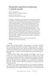 Dejavniki uspešnosti mediacije v sodnih sporih - UP Fakulteta za ...