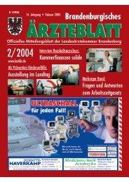 Ausgabe Februar 2004 - Landesärztekammer Brandenburg