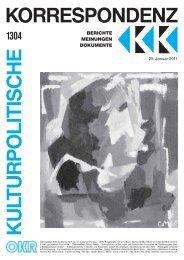 Ausgabe 1304 als PDF zum Download - Kulturportal West Ost